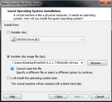 Installing FreeNAS into VMware Workstation Pt1 – marcjenkins