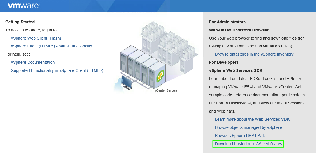 Upload to Datastore failure – Self Signed Certificate Error
